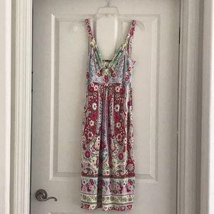 Elie Tahari 100% Silk Floral Print Dress XS